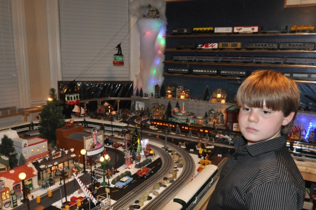 This is just a small part of the amazing train room built by Santa Mike White in Somerville, Tennessee.