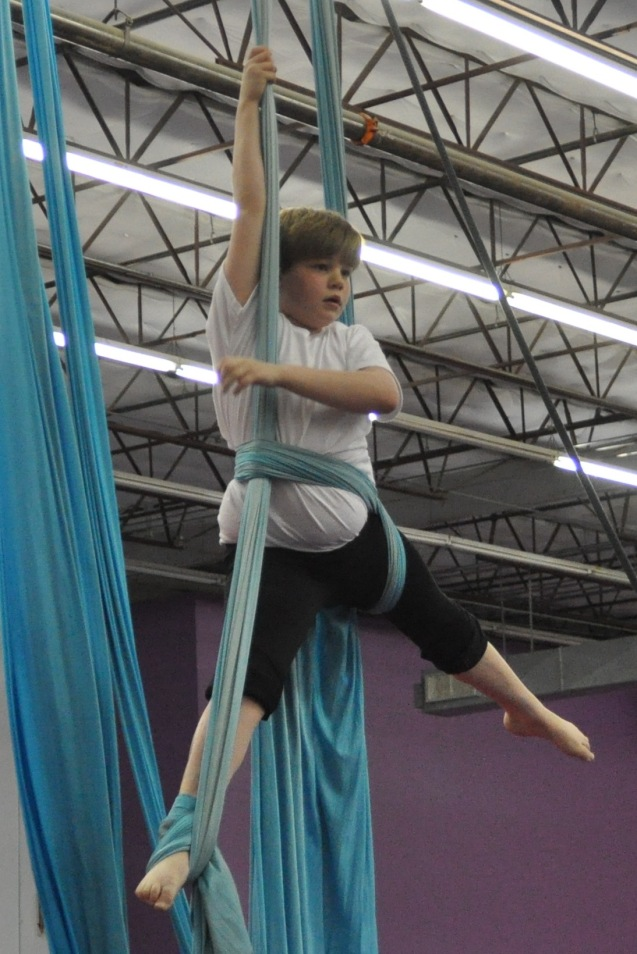 I'm working on a new silks routine for the spring show.