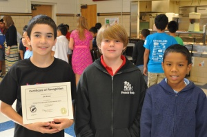 Wallace Elementary School 5th grade awards
