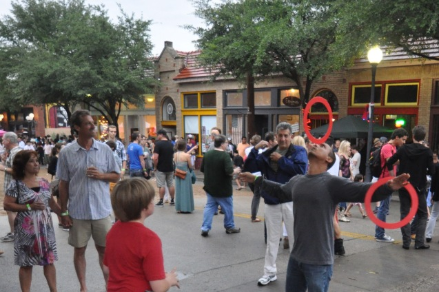 Jugglers at Bastille on Bishop