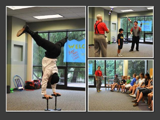 The Circus Freaks perform at the Cancer Support  Network.