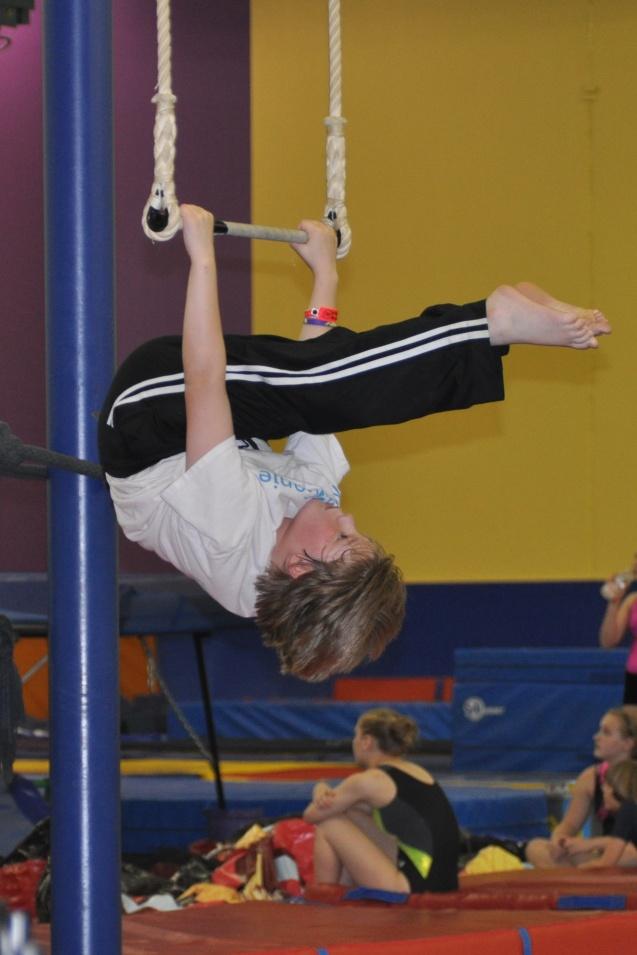 Trapeze lesson Lone Star Circus School