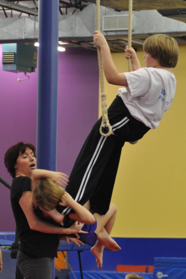 Trapeze lesson Lone Star Circus