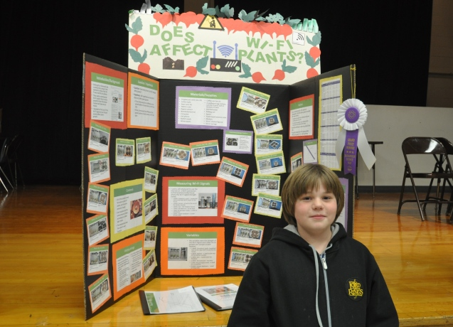 6th Grade Science Project 2014 School Grand Prize Winner