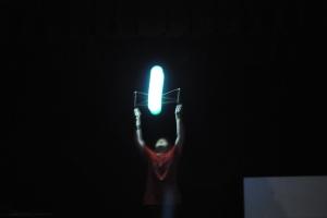 Kameron Badgers Juggling in the Dark routine