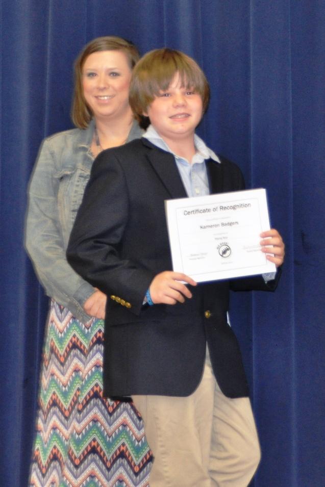 Kameron Badgers, 6th grade graduation 2014