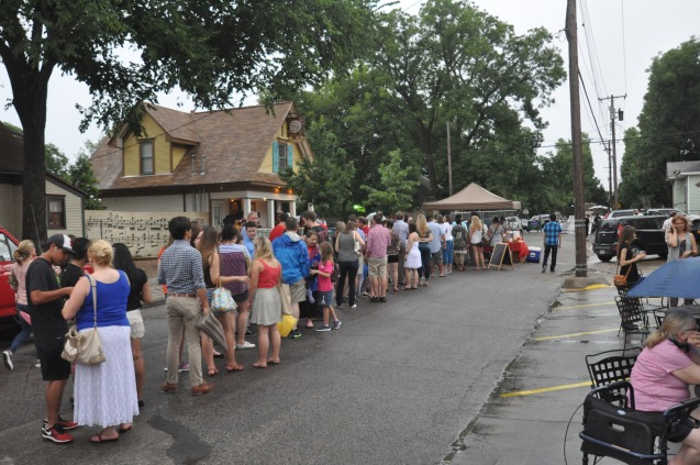 French Crepes Line at Bastille on Bishop