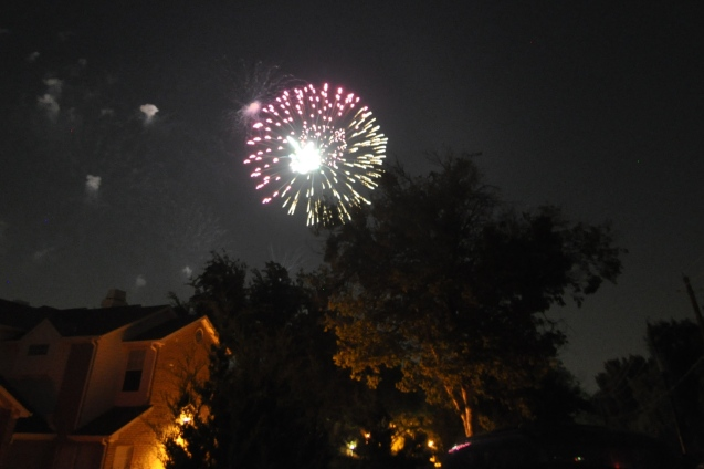 Fireworks over Bent Tree Country Club