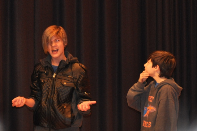 Charlie Mieth and Will Hutchins in How to Succeed in Junior High Without Really Trying