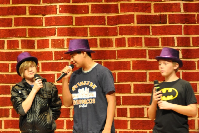 Charlie Mieth Max Gomez and David Allsup in How to Succeed in Junior High Without Really Trying