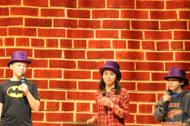 Will Hutchins, Madeline Sabedra and David Allsup in How to Succeed in Jr. High Without Really Trying
