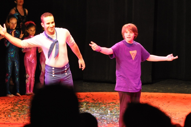 Asaf Moore and Kameron Badgers taking their bow Saturday Matinee 5_16_15