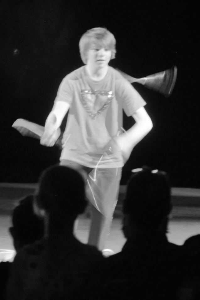 Dallas juggler Kameron Badgers at the Lone Star Circus Cha Cha Cha show