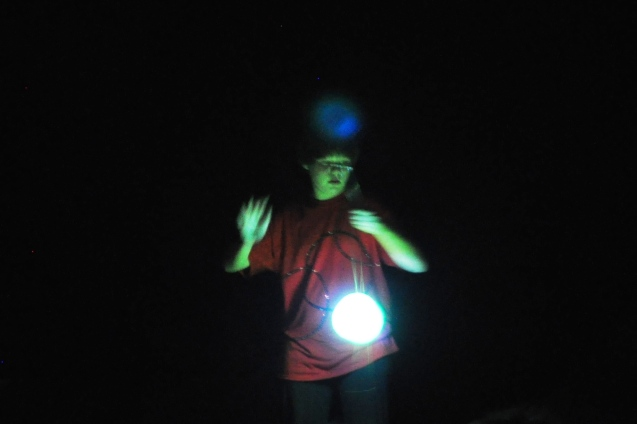 Kameron Badgers with Lighted Diabolo