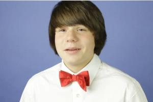 Dallas teen actor Kameron Badgers in a screen capture from a taped audition 9_28_15