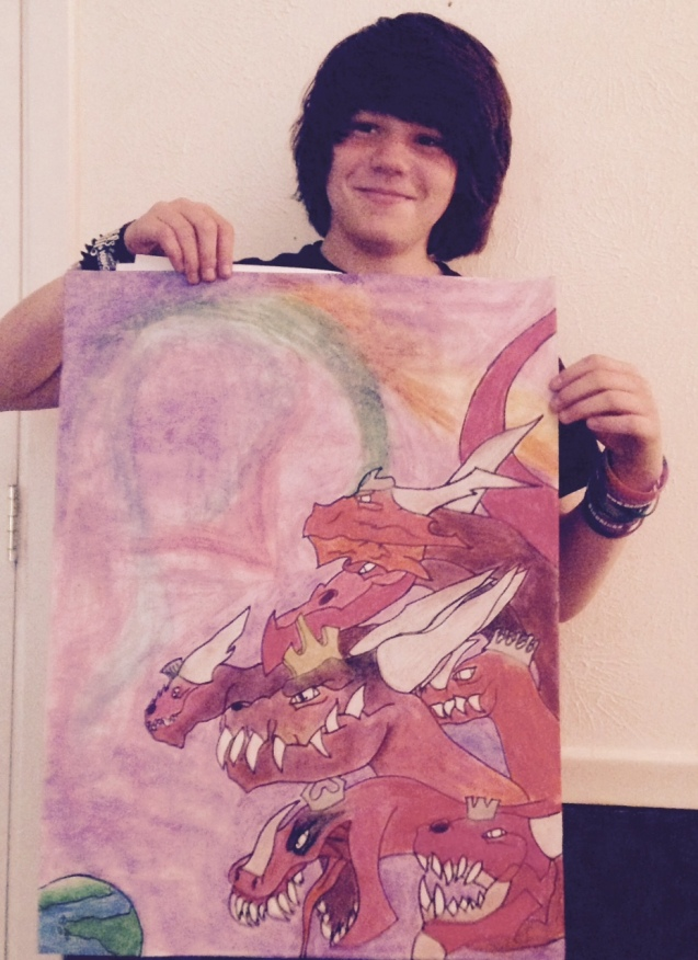 Kameron Badgers Art Contest Entry Dragons Rule