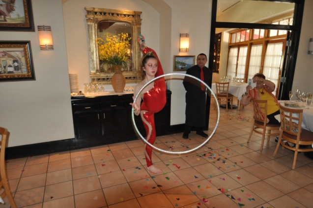 Claire McFadden of the Lone Star Circus at Cadot French Restaurant