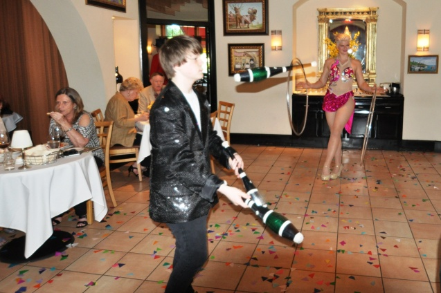 Kameron Badgers performing at Cadot French Restaurant