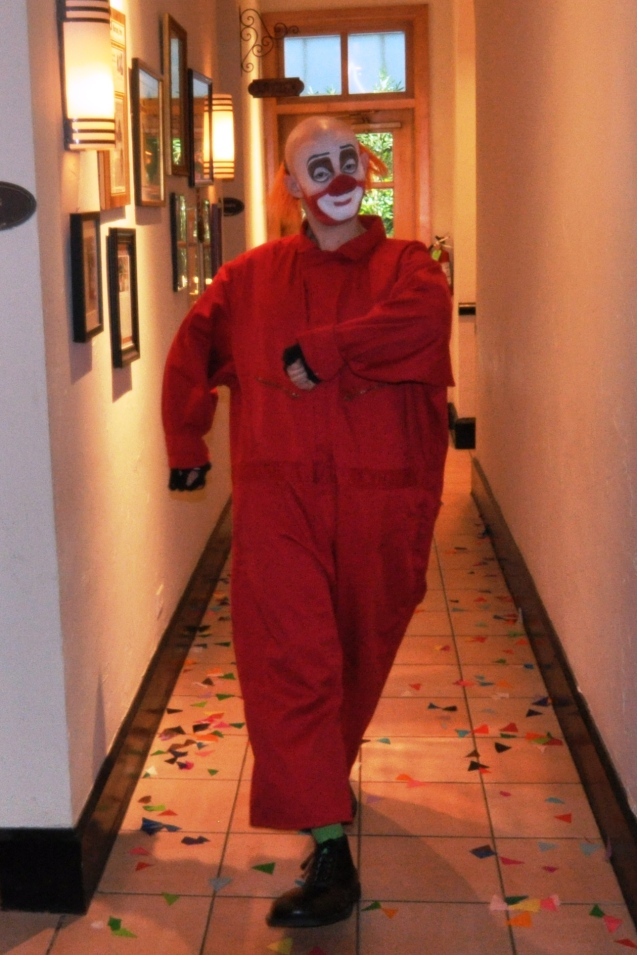 Zerp the Clown -- Nic Rainone -- making his entrance