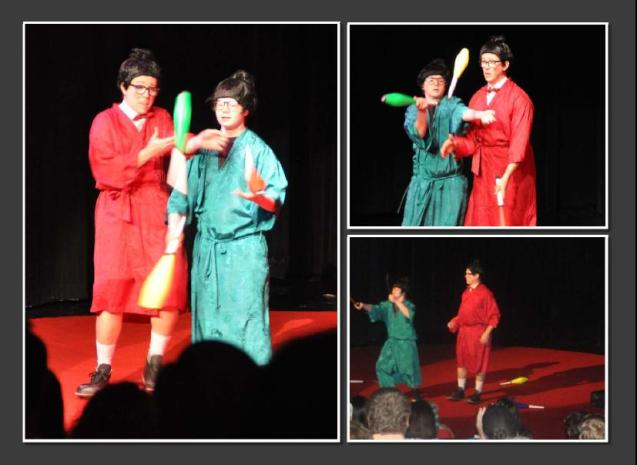 Kameron Badgers & Julio Furlan Lone Star Circus Samurai Jugglers Comedy Juggline Routine Photos