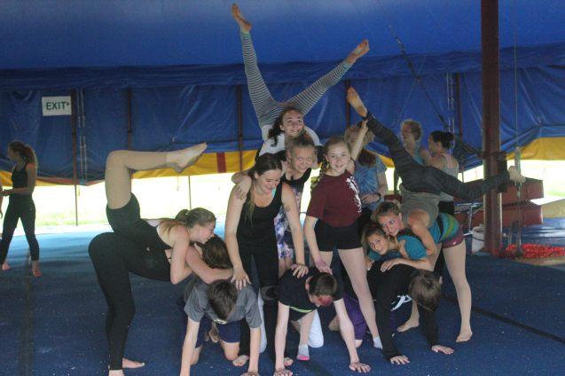 Basing a 12-person pyramid at Circus Smirkus Session V 2016.