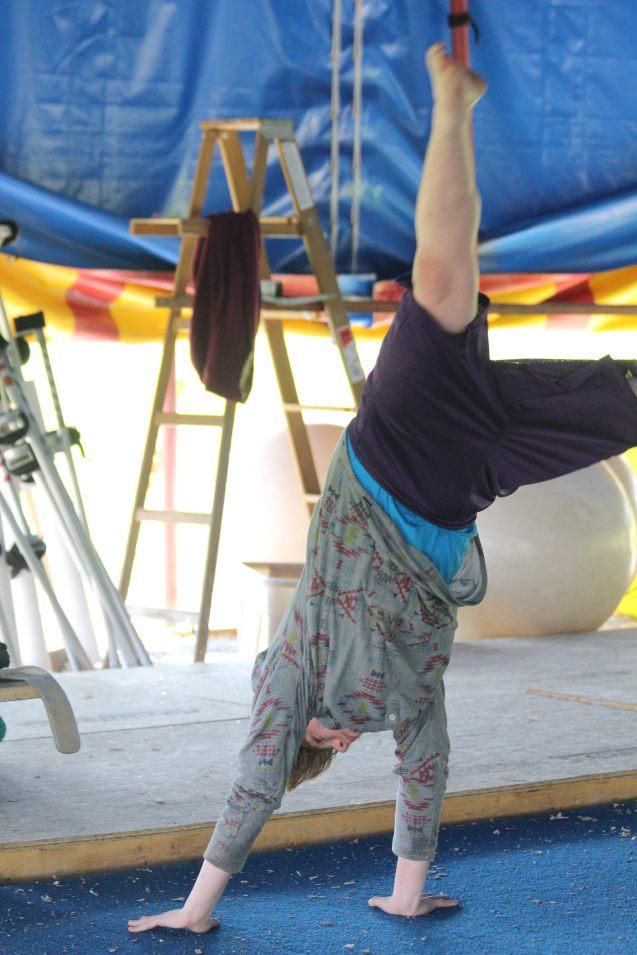 Acro class Circus Smirkus Session V 2016