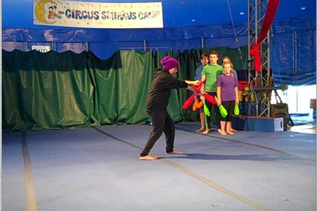 Screen Cap Solo Juggling Act End of Camp Show 1