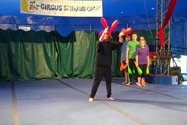 Screen Cap Solo Juggling Act End of Camp Show 2
