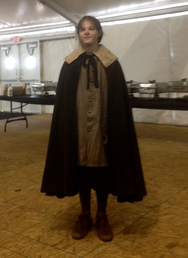 Kameron Badgers in costume for Season 3 of WGN's Salem