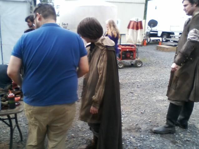 Kameron Badgers on set for WGN's Salem Season 3