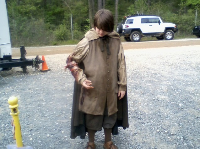 Kameron Badgers on the Salem set