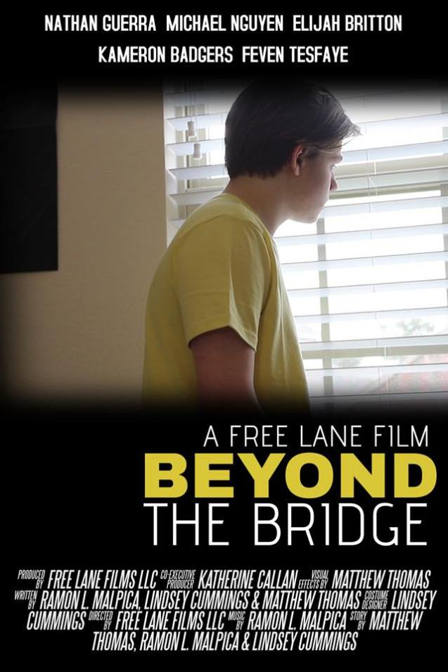 Kameron Badgers as J<a cob Carter on movie poster for Beyond the Bridge