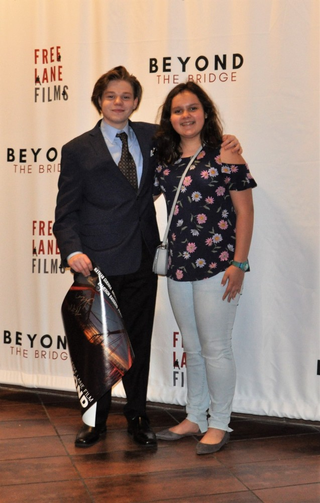 Zoe Gameros and Kameron Badgers at the premiere of Beyond the Bridge